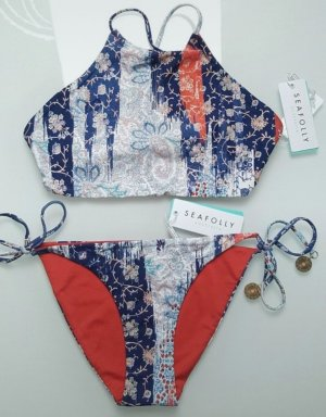 Seafolly Sommerbikini Gold mit Muster