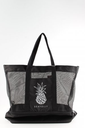 Seafolly Sports Bag black-white beach look