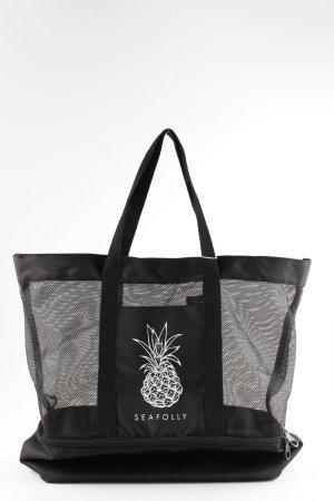 Seafolly Sporttasche schwarz-weiß Beach-Look