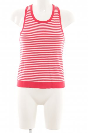 Seafolly Top lavorato a maglia bianco-rosso