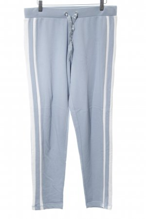 Seafolly Sweat Pants azure-white striped pattern casual look