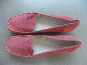Sebago Schuh Loafer Mokassins Slipper Ballerina Gr. 38,5 Himbeer