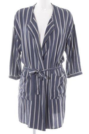 Second Female Giacca a blusa grigio ardesia-bianco motivo a righe stile semplice