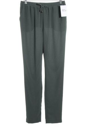 Second Female Pantalone a pieghe verde scuro-cachi stile semplice