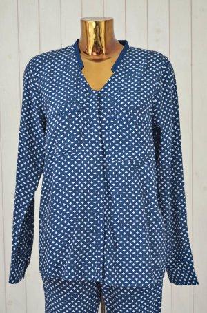 Second Female Pyjama donkerblauw-wit Viscose