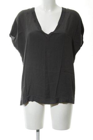 Second Female Kurzarm-Bluse schwarz Casual-Look