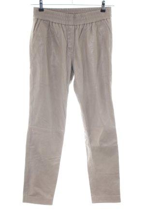 Second Female Pantalón de cuero blanco puro estilo «business»