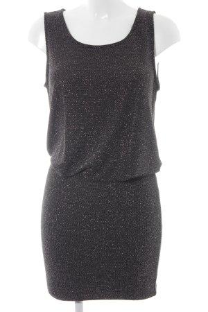 Second Female Minikleid schwarz-silberfarben Zackenmuster extravaganter Stil