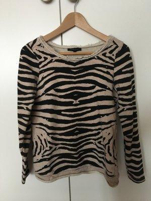 Second Female Pullover Zebra schwarz weiss