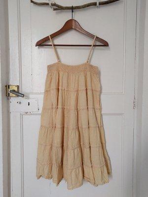 SECOND FEMALE Sommer Kleid Gr. S-M Hängerchen Gelb Scandinavian Blogger Style