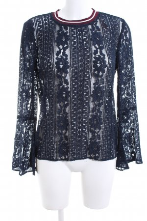Second Female Lace Blouse blue striped pattern extravagant style