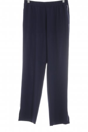 Second Female Stoffhose dunkelblau-wollweiß Streifenmuster Business-Look