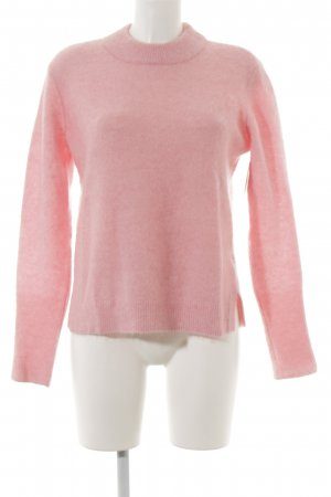 "Second Female Strickpullover ""Brook Knit Slit O-neck"" rosa"