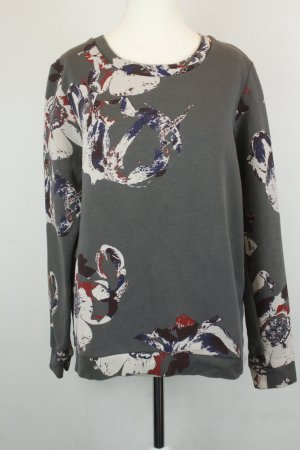 Second Female Sweatshirt Sweater Gr. M grau creme floral Print
