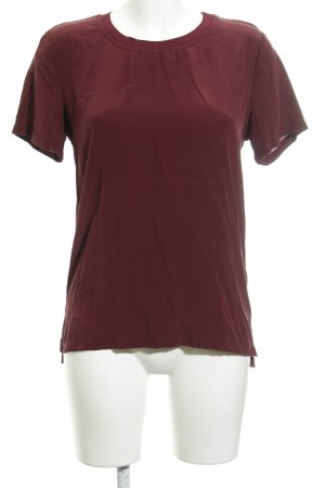 Second Female T-shirt bordeaux casual uitstraling