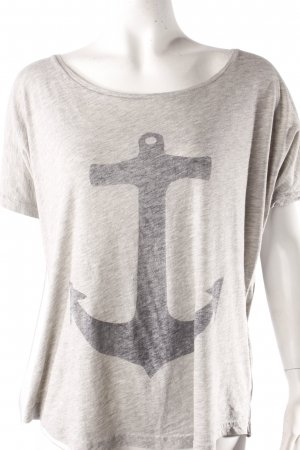 Second Female T-Shirt graumeliert mit Print