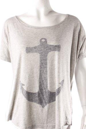 Second Female T-Shirt graumeliert mit Print