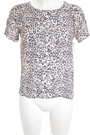 Second Female T-shirt rosa pallido-blu scuro Stampa leopardata stile casual