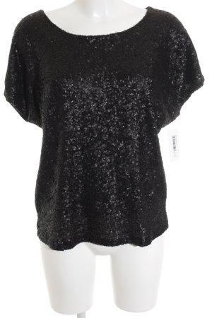 Second Female T-shirt zwart metal uitstraling
