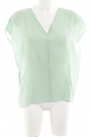 Second Female V-hals shirt groen-turkoois elegant
