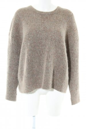 Second Female Wollpullover braun meliert Casual-Look