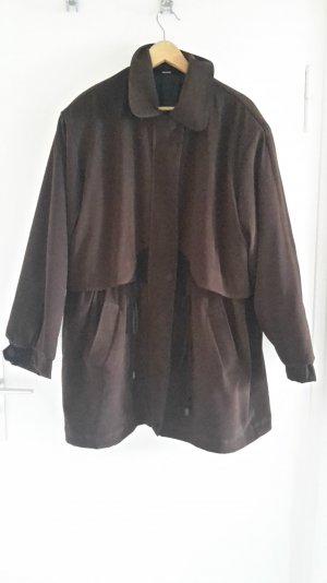 Oversized Jacket black-dark brown