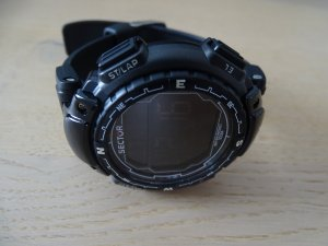 Watch black synthetic material