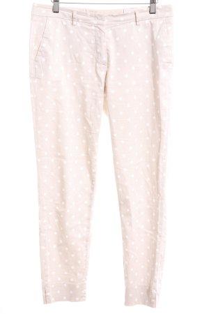 Seductive Pantalon 7/8 crème-blanc motif de tache style décontracté