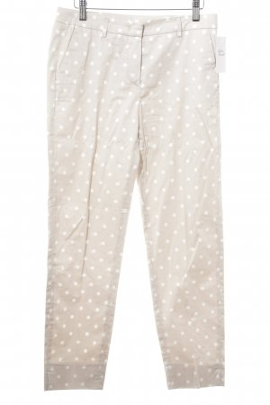 Seductive Pleated Trousers white-cream spot pattern business style