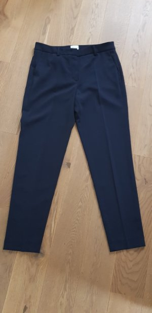 Seductive Pleated Trousers dark blue polyester