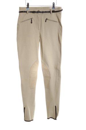 Seductive Pantalone da equitazione bianco sporco-nero stile casual