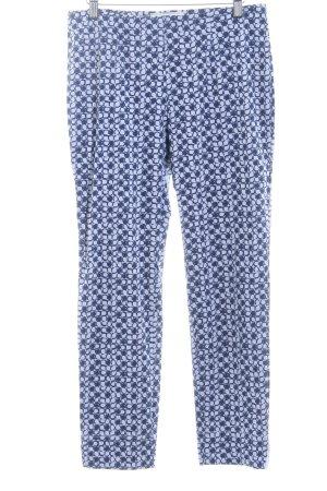 Seductive Stoffhose blassblau-dunkelblau Punktemuster Casual-Look