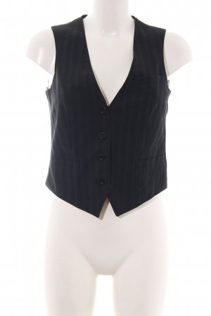 See by Chloé Waistcoat black striped pattern business style