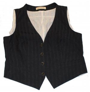 See by Chloé Fringed Vest black cotton