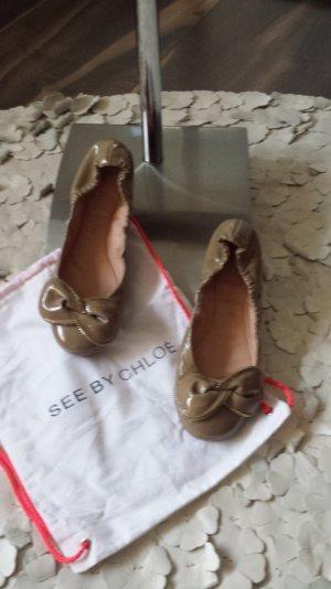"""See by Chloe  - Ballerina Lackleder  Gr. 38""""  taupefarben / Neuzustand"""