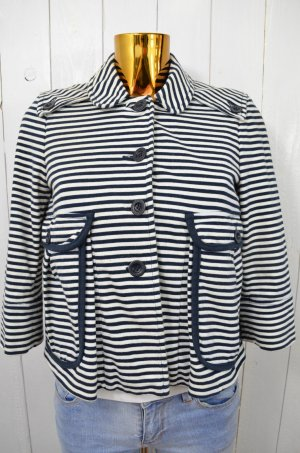 SEE BY CHLOÉ Damen Jacke Jerseyjacke Gestreift Maritim Kurzarm Baumwolle Gr.38