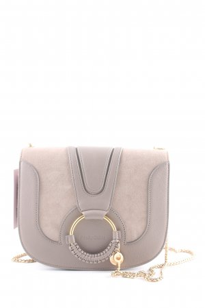 "See by Chloé Handtasche ""Hana Crossbody Leather/Suede Motty Grey"" grau"