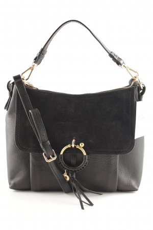 "See by Chloé Handtasche ""Joan Grained Leather Black"" schwarz"