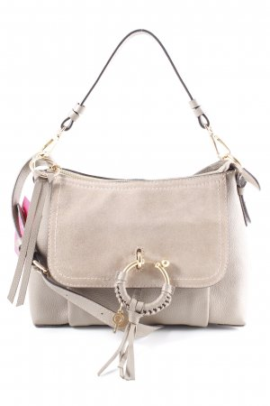 "See by Chloé Handtasche ""Joan Grained Shoulder Bag Leather Motty Grey"""