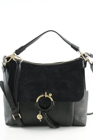 See by Chloé Handtasche schwarz-goldfarben minimalistischer Stil