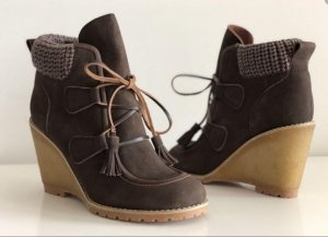See by Chloé Lace-up Booties grey brown-sand brown leather