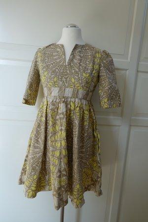 SEE BY CHLOÉ Kleid, aus Baumwolle in gelb, beige & hellbraun, ital. 44 oder EUR 40