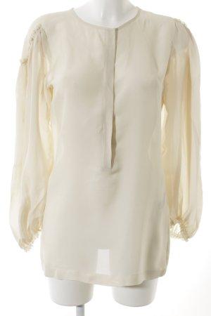 See by Chloé Langarm-Bluse creme Romantik-Look
