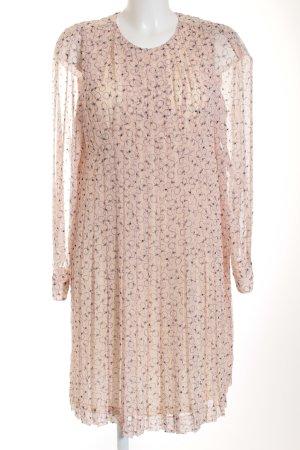 See by Chloé Abito a maniche lunghe rosa chiaro-antracite motivo astratto
