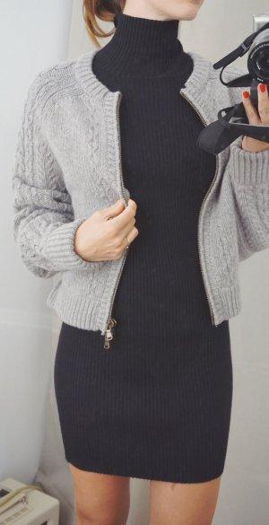 See by Chloé Luxus Designer Strickjacke Premium grau Wolle Herbst XS 34 NEU