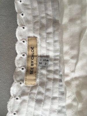 See by Chloé Vestido de encaje blanco Algodón