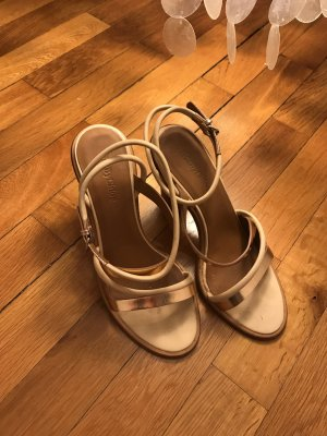 See by Chloé Strapped High-Heeled Sandals beige-cognac-coloured leather