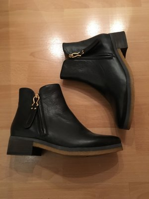 See by Chloé Ankle Boots black-gold-colored leather