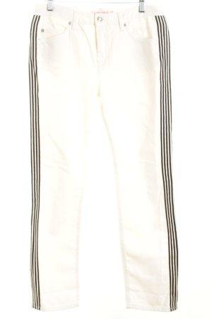 See by Chloé Straight-Leg Jeans weiß-schwarz Streifenmuster Casual-Look