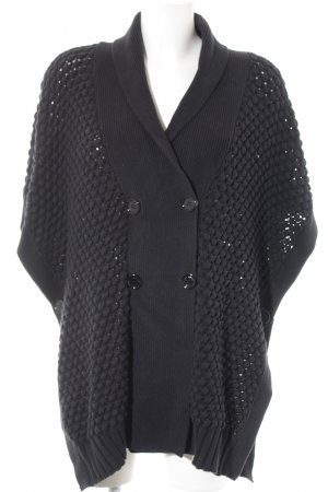 See by Chloé Strickponcho dunkelblau Webmuster Casual-Look